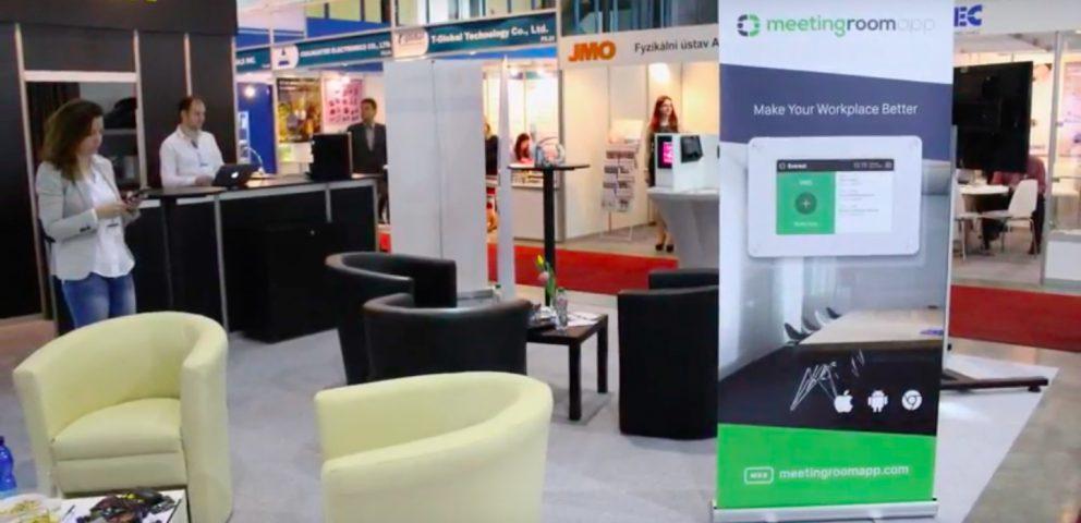 MeetingRoomApp en la feria checa más grande Amper 2017