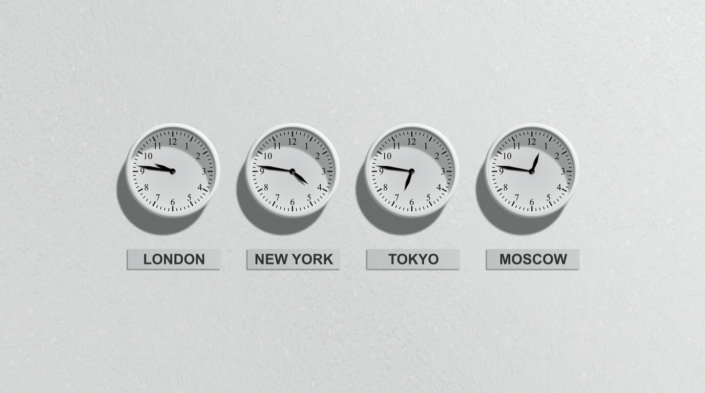 Meetings in different time zones