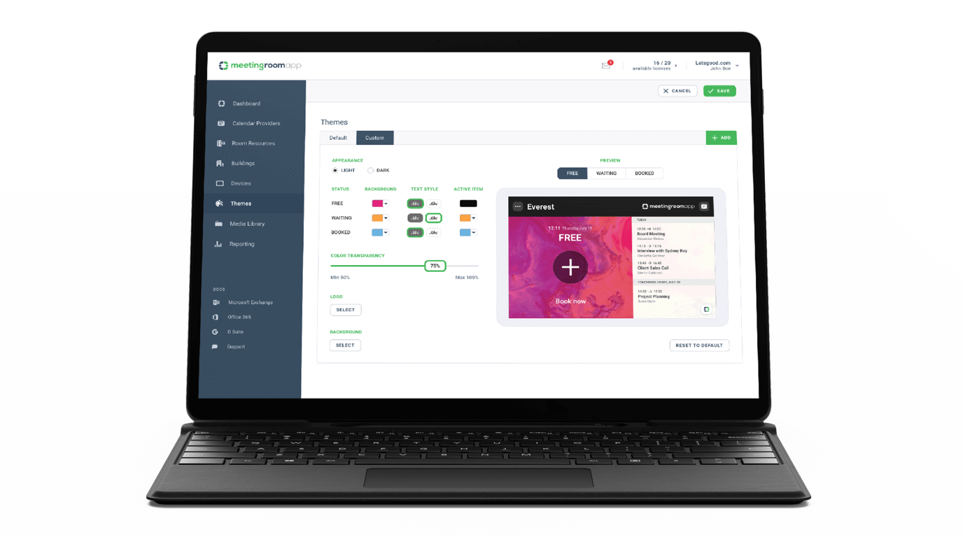 Stylebook Cómo ajustar la apariencia del fondo de la aplicación